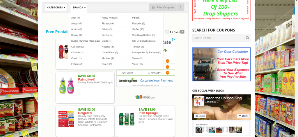 search coupons by brand
