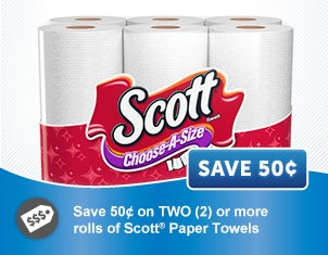 Coupon For Oil Change >> .50 off Scott Brand Paper Towels Coupon