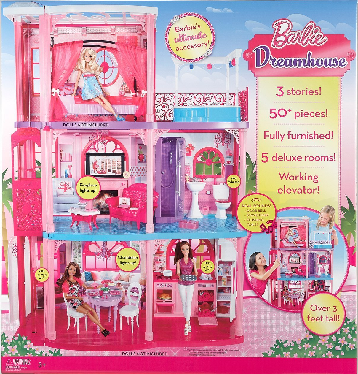 Amazon sale barbie 3 story townhouse 99 w free shipping for Accessori per la casa di barbie
