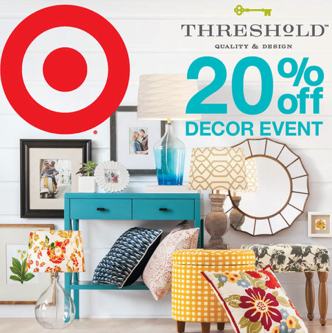 Target off any 30 home items purchase printable coupon Target blue home decor