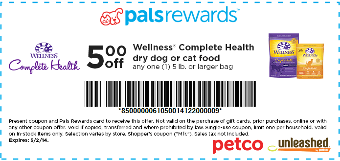 Wellness Cat Food Coupons Printable