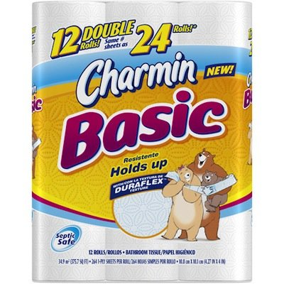 Charmin Basic Toilet Paper 75 Off Coupon Nice Doubler
