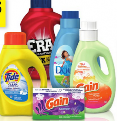 Tide / Gain / Downy Laundry Items $2.00 off ANY (2) Coupon