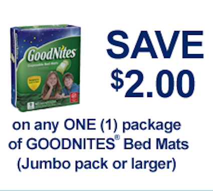 Goodnites diapers coupons printable