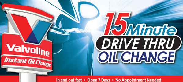 Valvoline oil change coupons 15 off